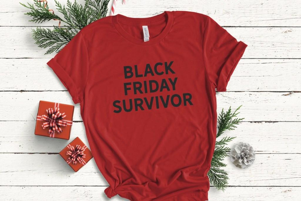 Red Black Friday Survivor Shirt