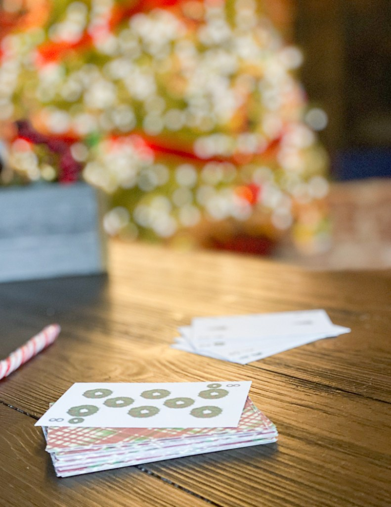 Spoons Card Game with Candy Canes