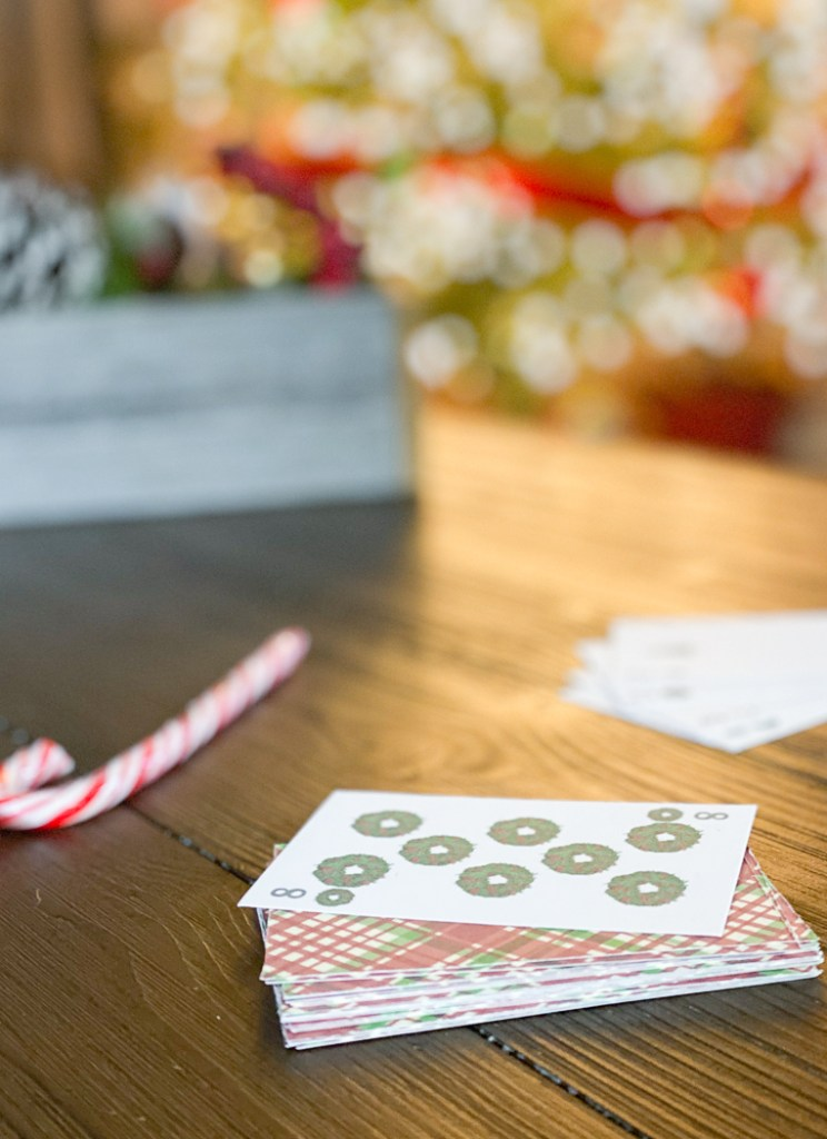 Holiday Wreath Playing Card