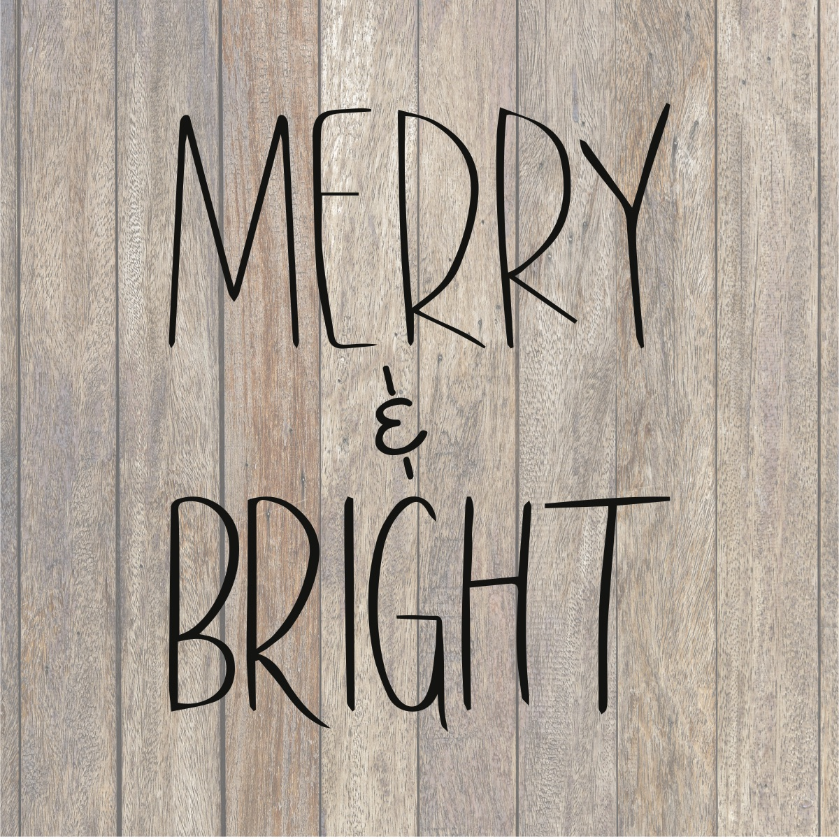 Merry Bright Svg File Holiday Christmas Hand Lettered