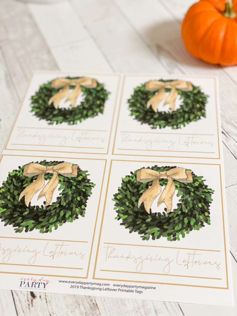 Thanksgiving Printable Tags Pumpkin