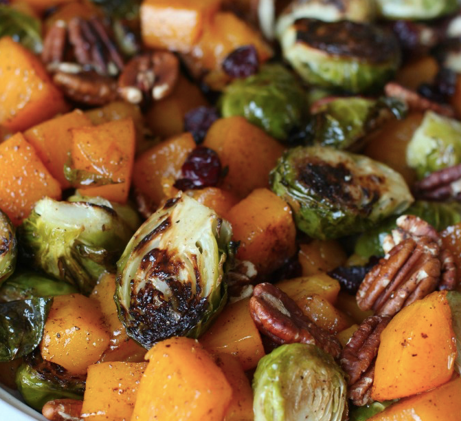 Brussel Sprouts Butternut Squash