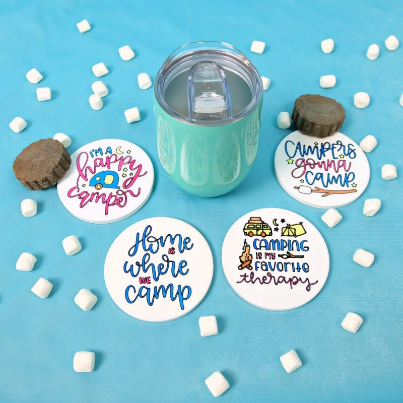 Hello Creative Family Camping Coasters