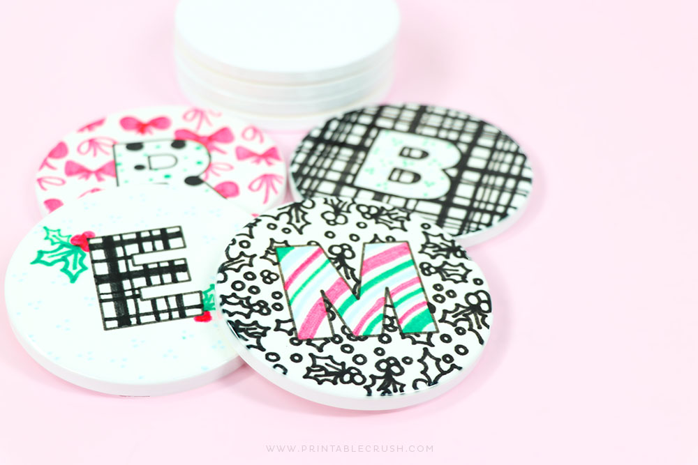 Printable Crush Holiday Coasters