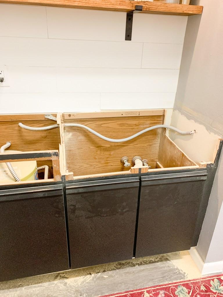 Cut Cabinets Farmhouse Sink