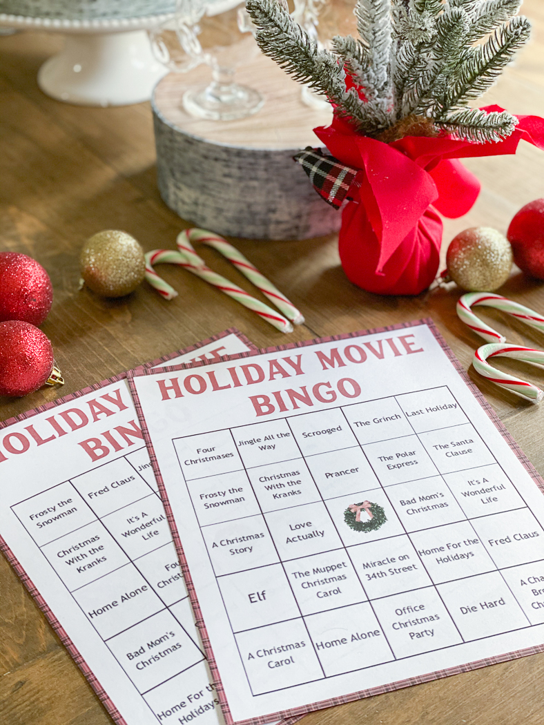 Christmas Movie Bingo