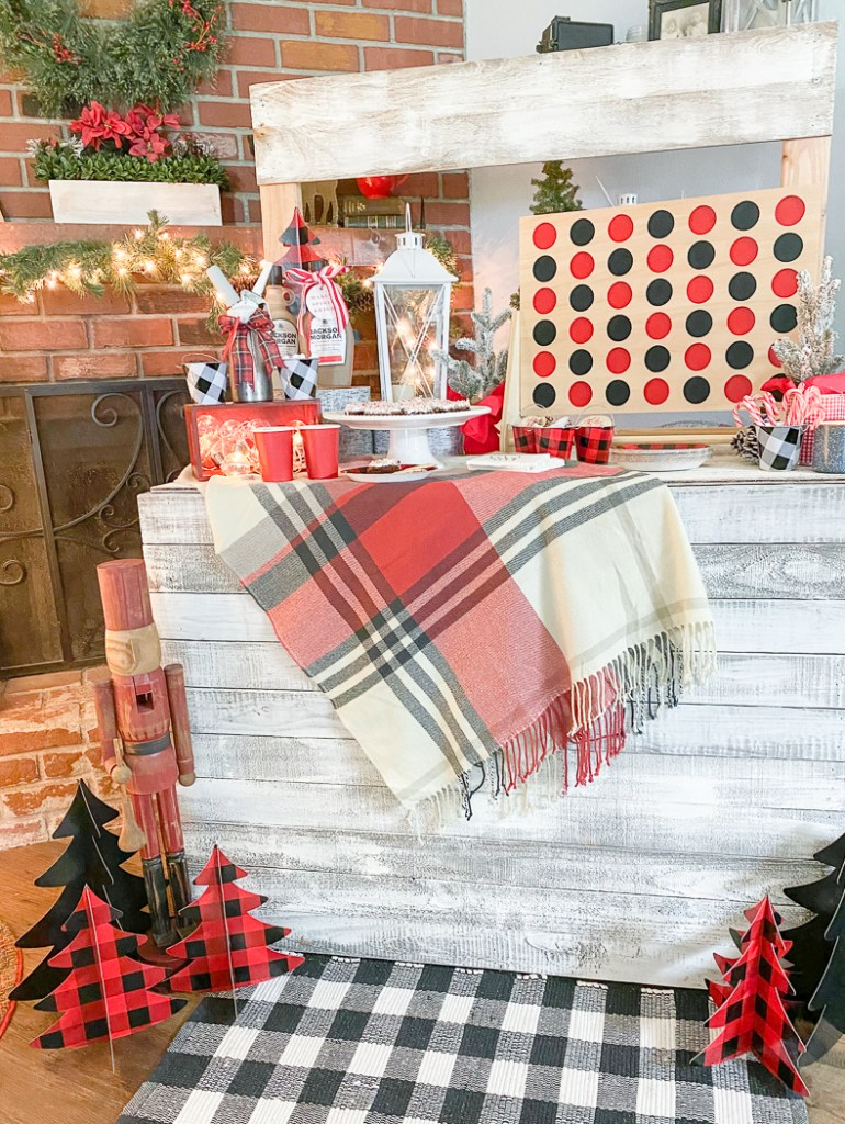 Hot Cocoa Stand Plaid Blanket
