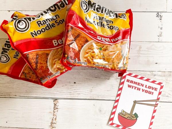 Ramen Noodles Valentine's Day Treat