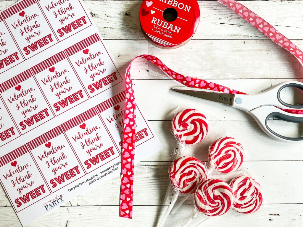 Kids Valentine's Day Cards Lollipops