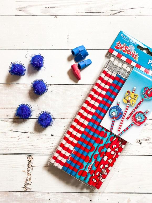 Pencils Pom Pots Erasers