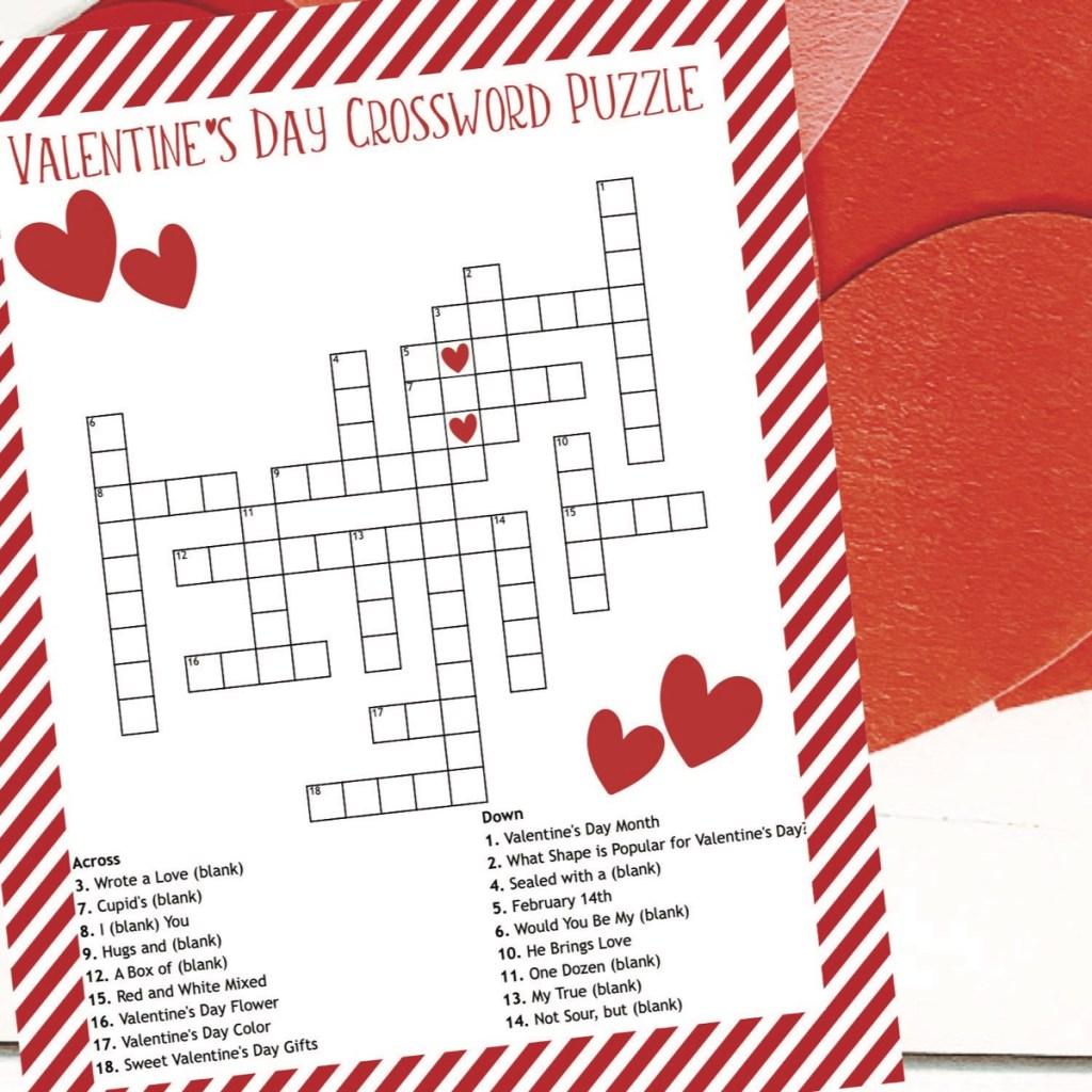 Valentine's Day Printable Activity Sheet