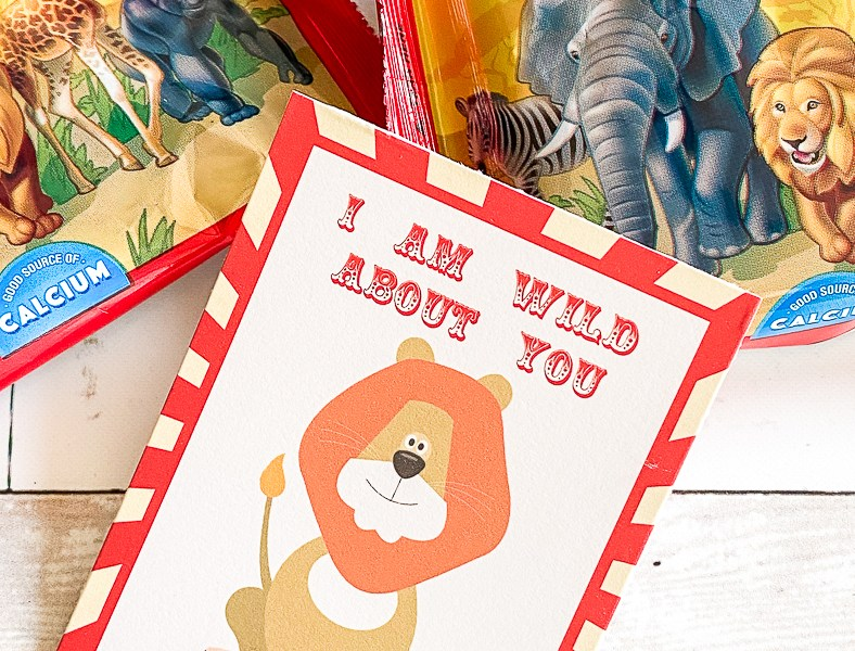 Lion Valentine Card Circus Cookies