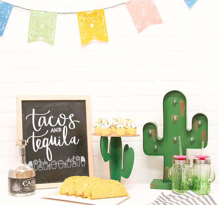 Taco Bar Cactus Cupcake Stand