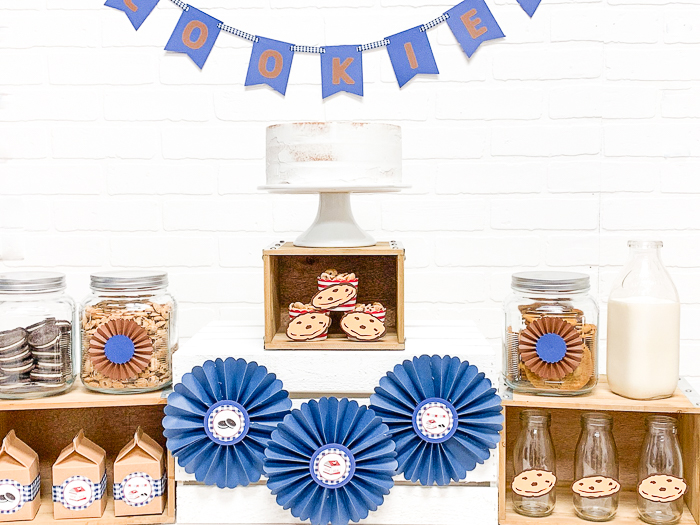 Milk and Cookies Party Table