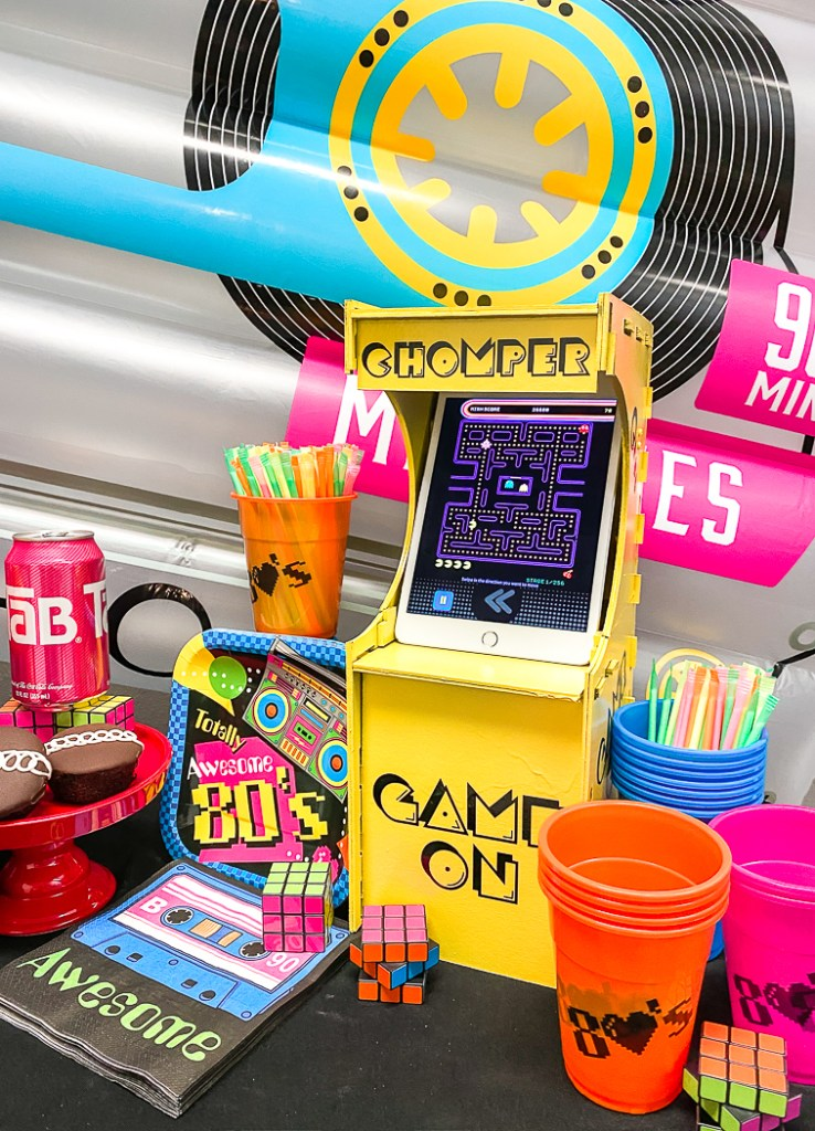 80's Party Game Cabinet