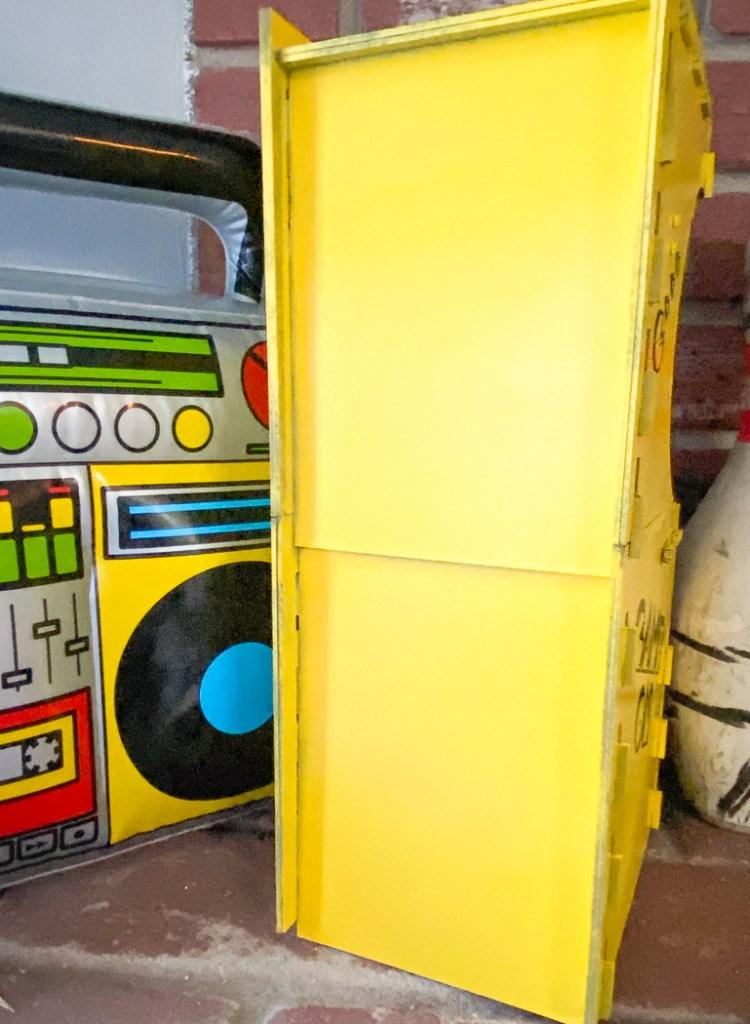 Chipboard Game Cabinet Backside
