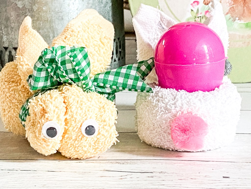 Washcloth Easter Bunny Craft