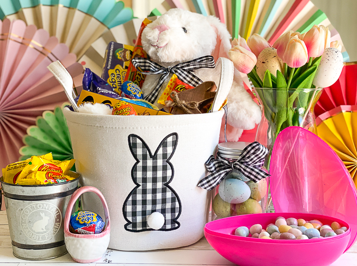 Gingham Easter Basket