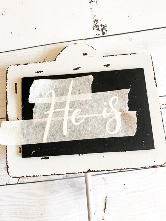 Transfer Tape Chalkboard Easter Craft