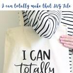 Crafty Cut File DIY Bag