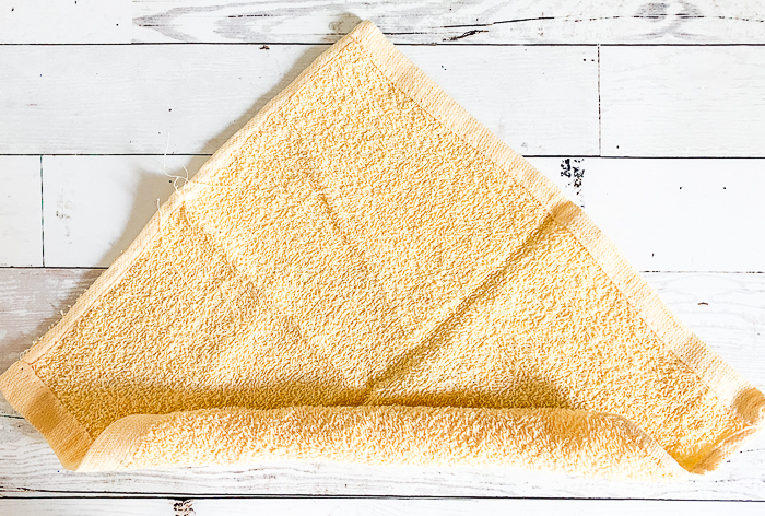 Washcloth folding