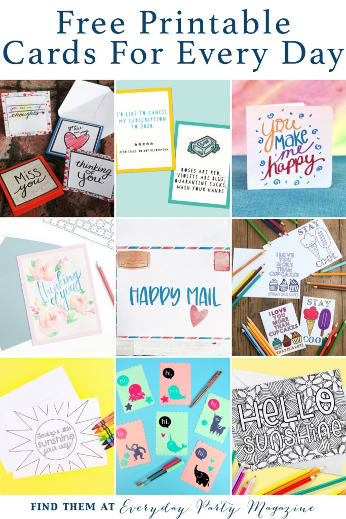 Printable Card Collage