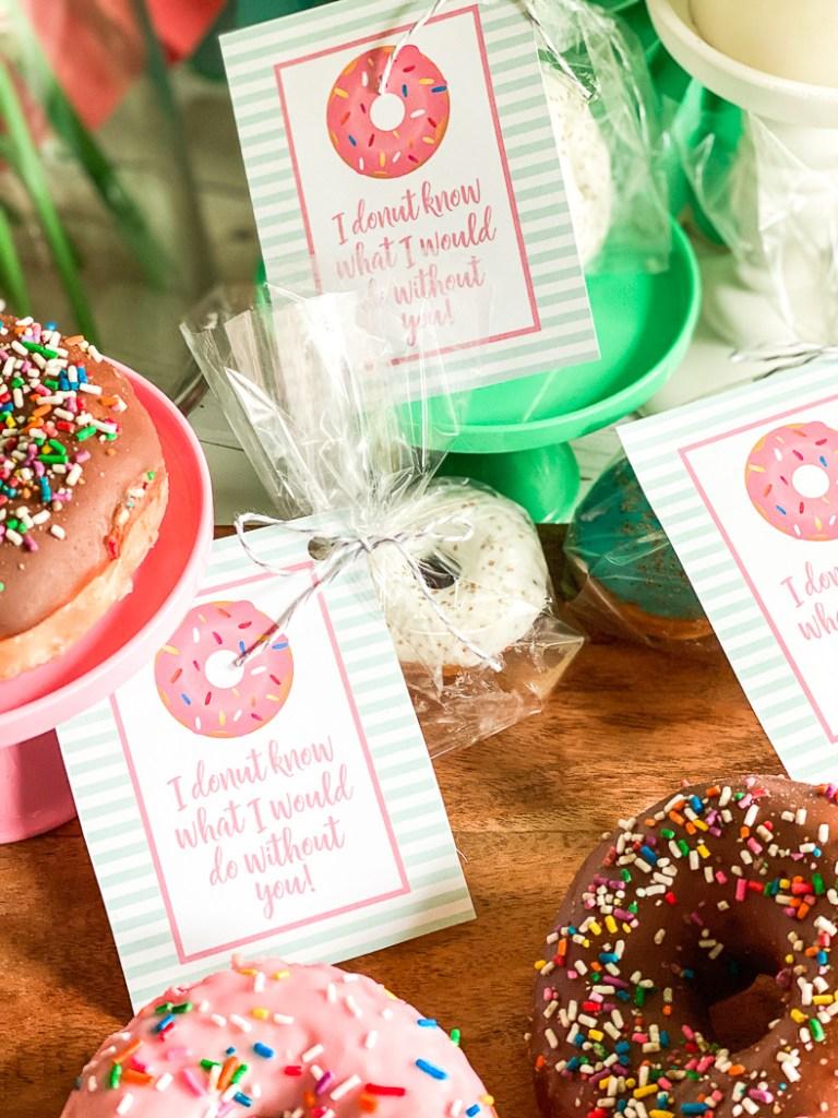 Printable Donut Tags