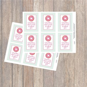 Printable Donut Tags