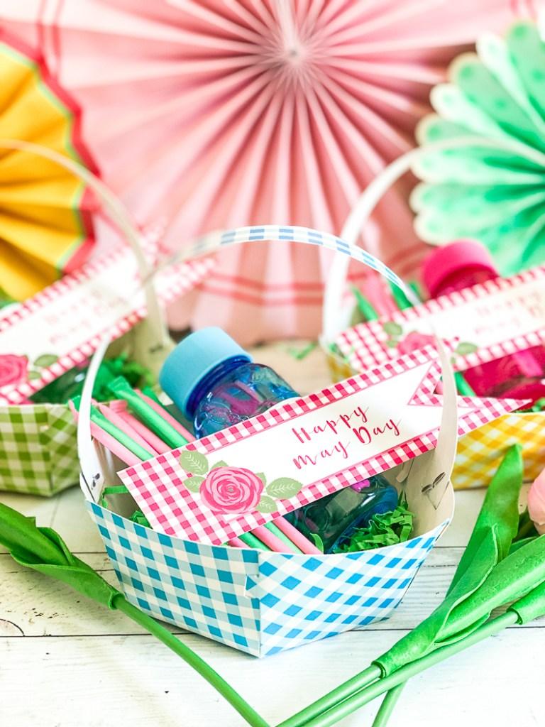 May Day Basket Bubbles May Day Tag