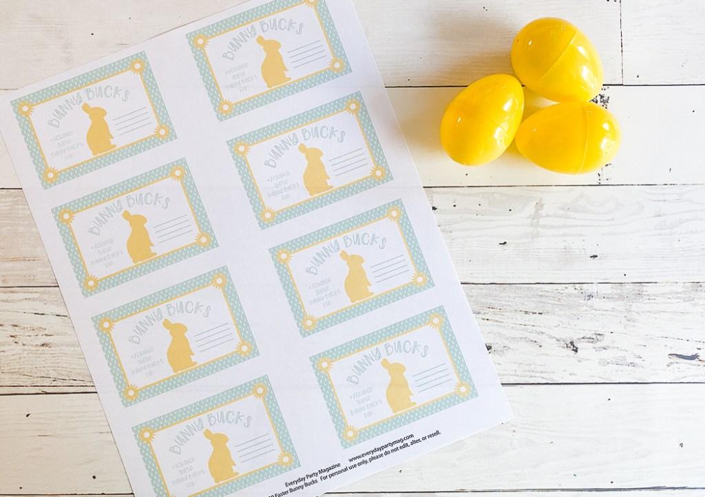Easter Printable Plastic Easter Egg
