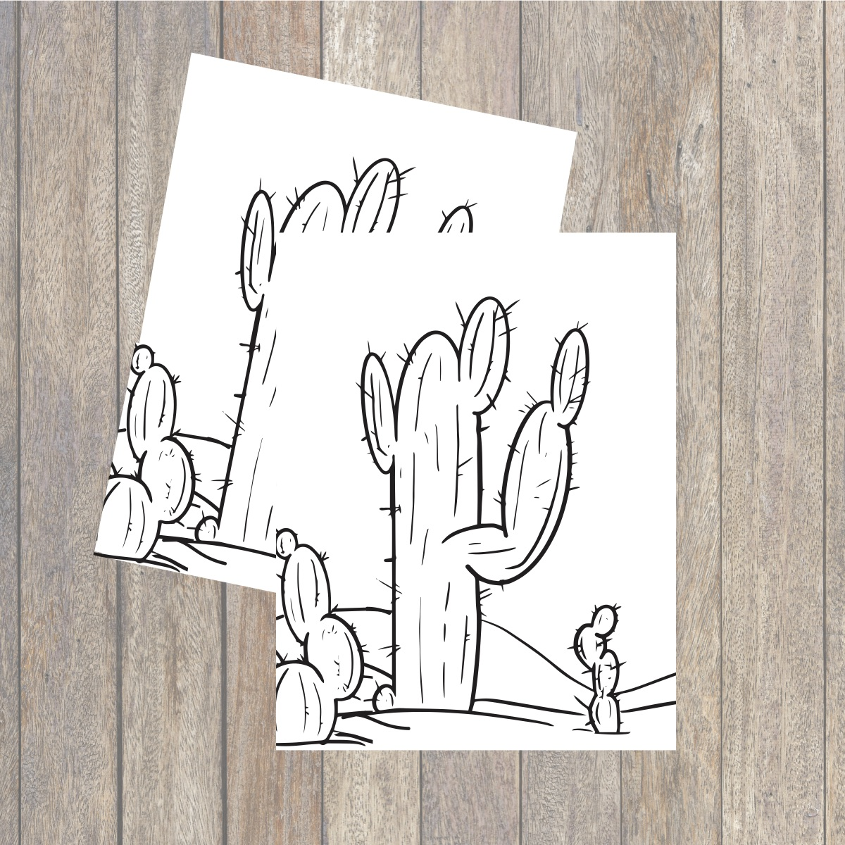 Printable Cactus Coloring Page Everyday Party Magazine