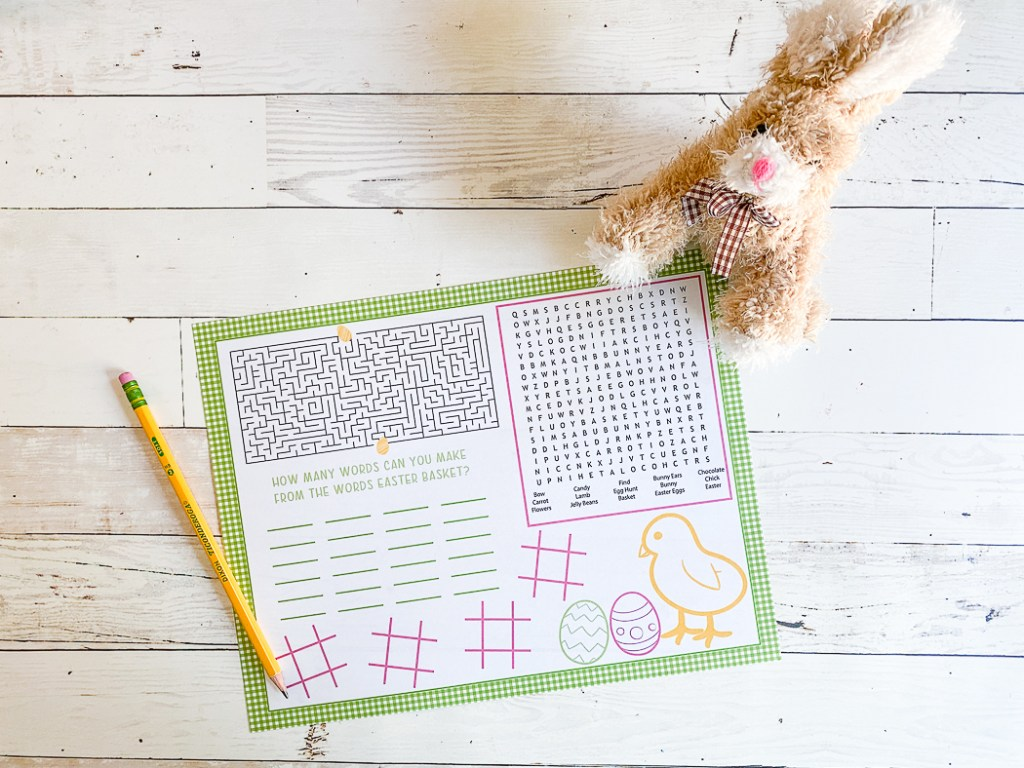 Easter Bunny Printable Easter Activity -  get details and more Easter activity ideas now at fernandmaple.com!