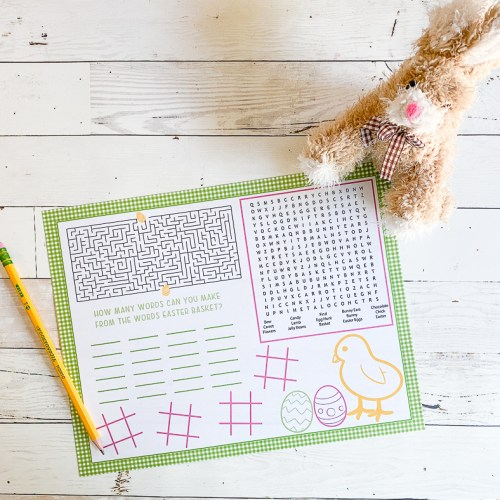 Easter Bunny Printable Easter Activity