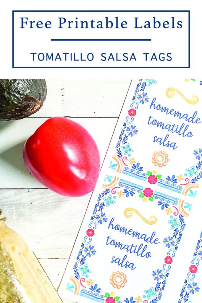 Homemade Salsa Food Labels