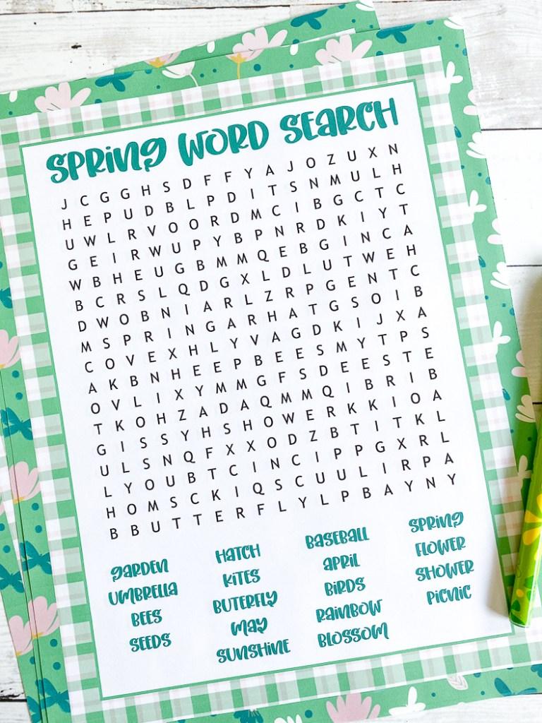 Word Puzzle Printable