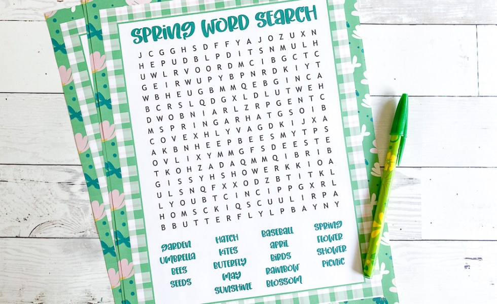 Spring Word Puzzle