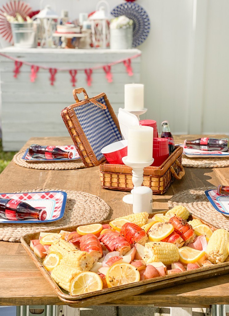 Seafood Bake Party Table