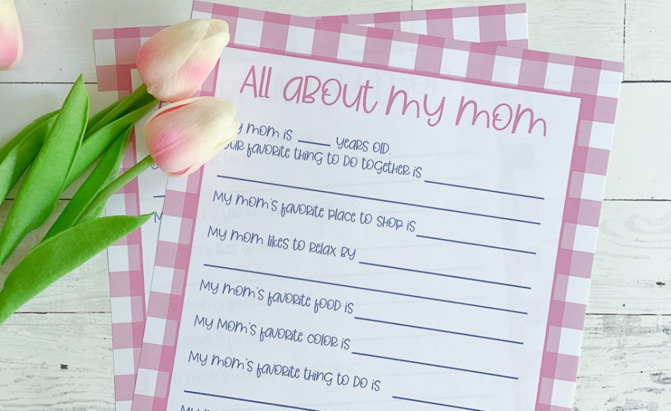 Mother's Day Printable Tulips