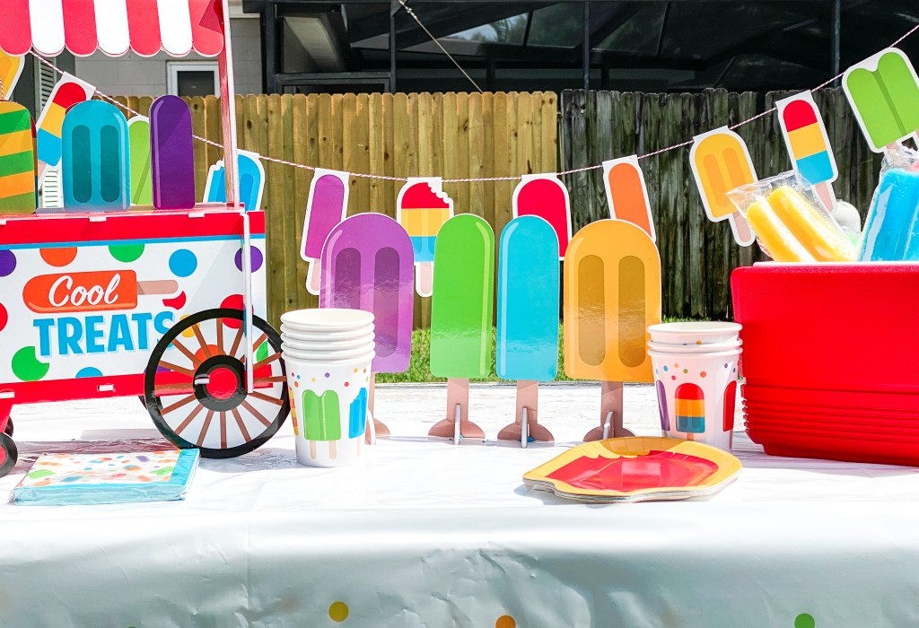 Popsicle Party Table