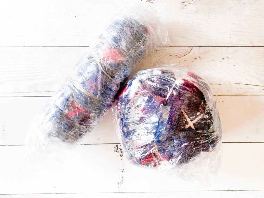 Plastic Wrapped Tie Dye