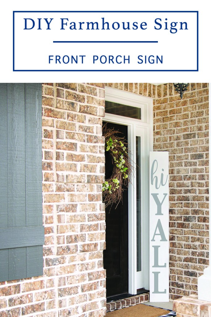 DIY Porch Sign