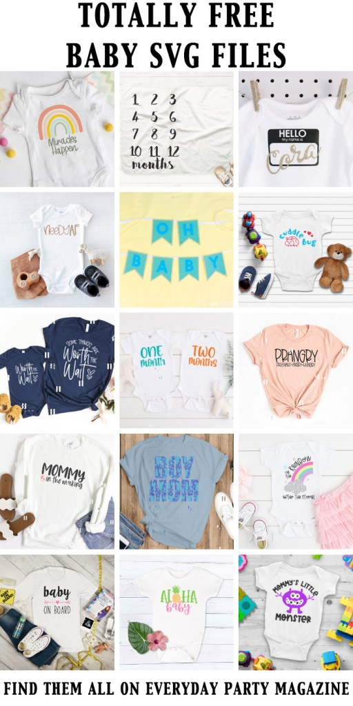 Baby themed SVG Files