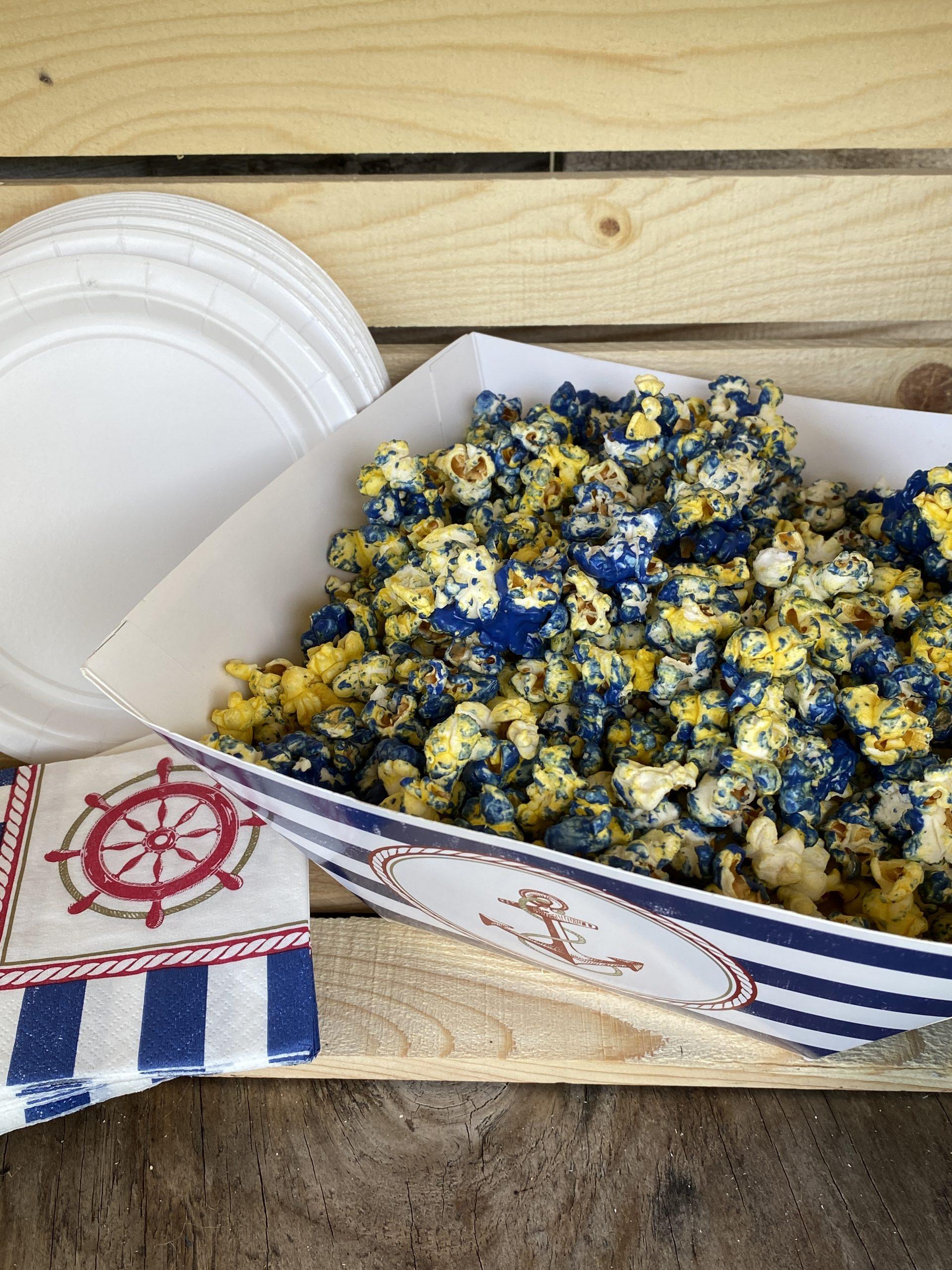Nautical Candied Popcorn