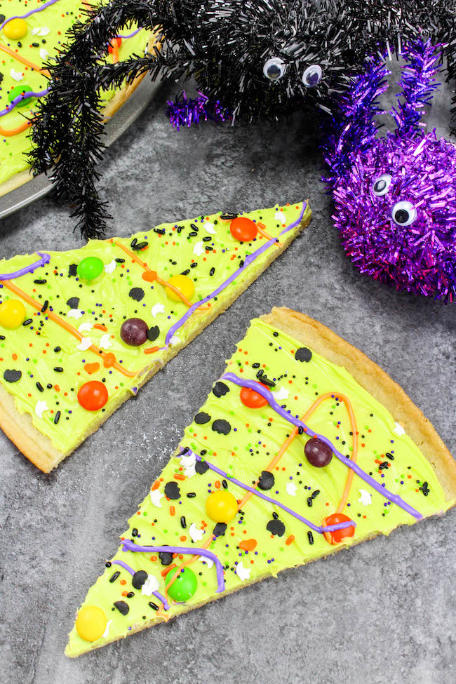 Spider Decoration Cookie Pizza Slices