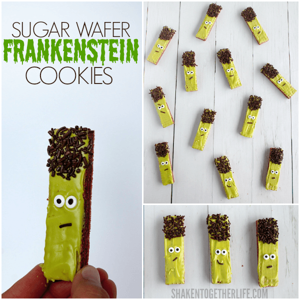 Frankenstein Wafer Cookies