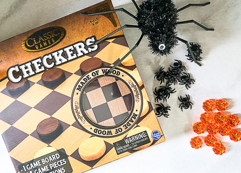 Checkers Game Halloween Table Scatter