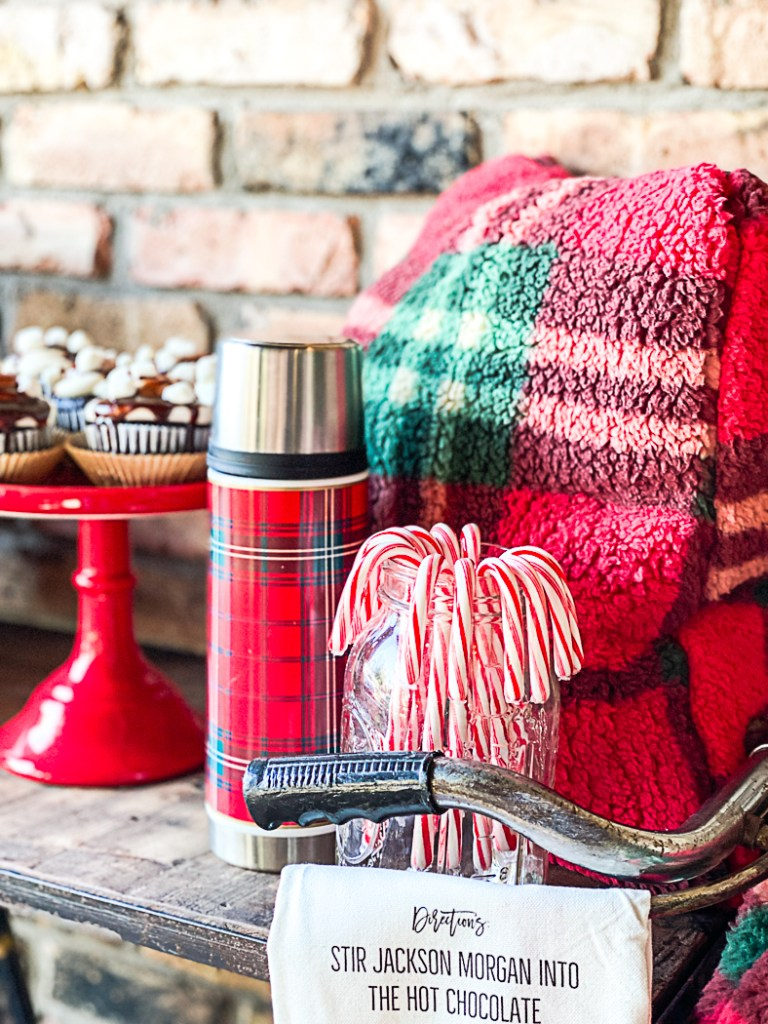 Plaid thermos Candy Canes