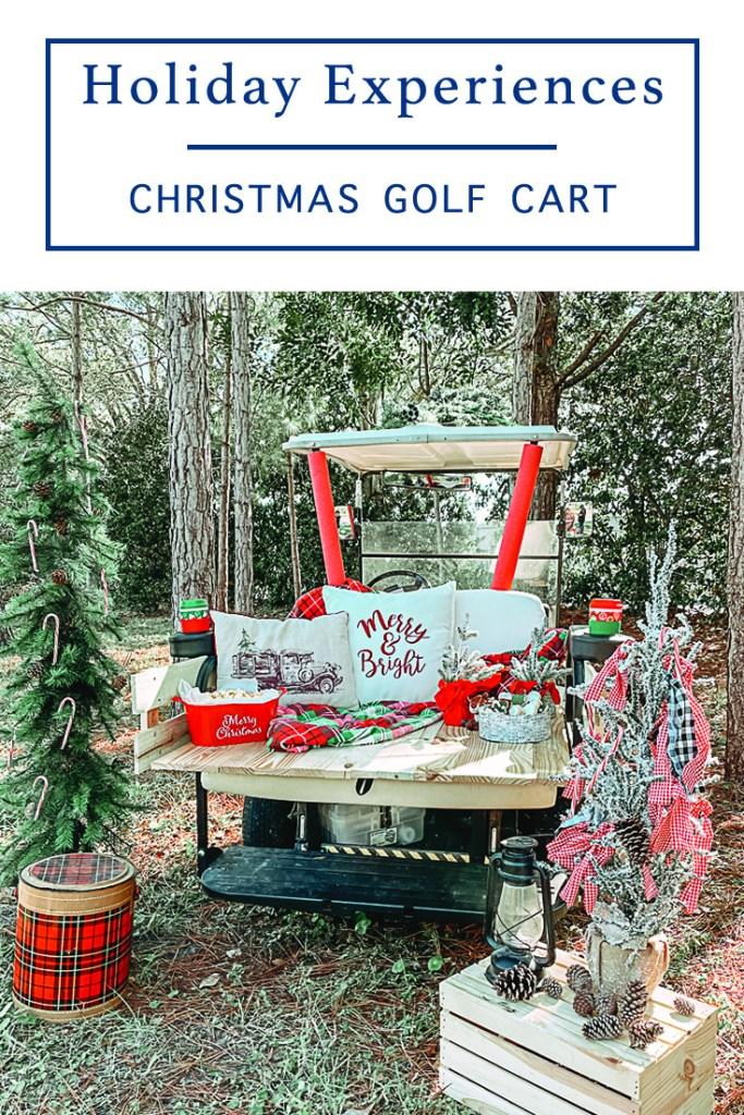 Winter Birthday Golf Cart