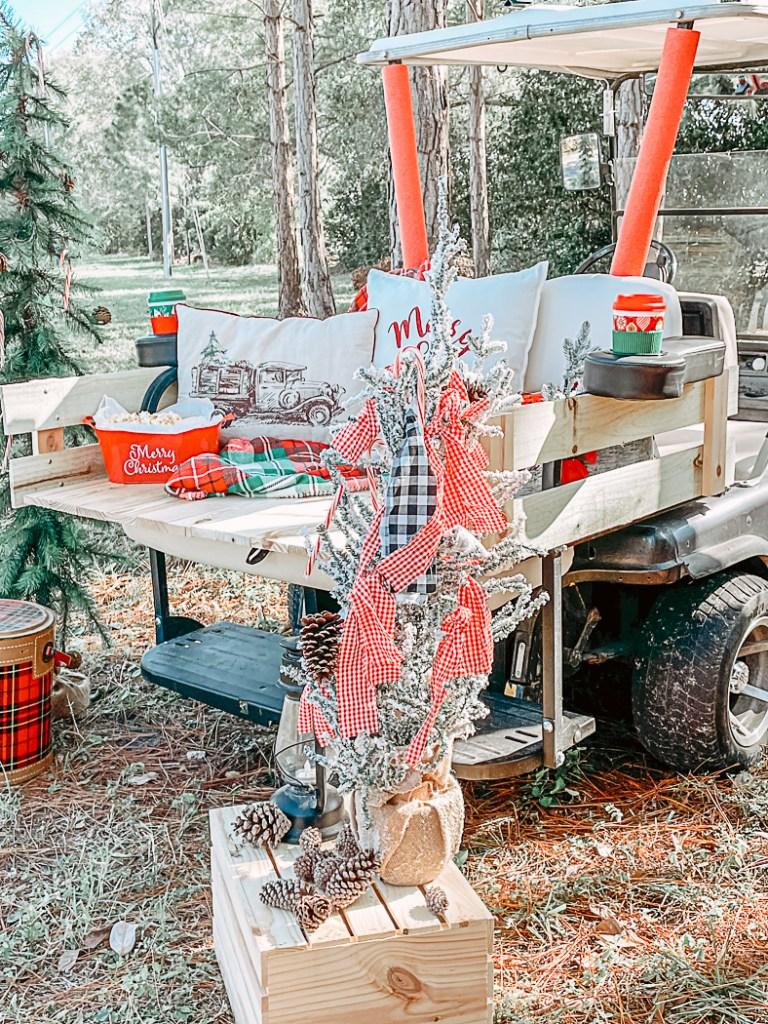 Christmas Golf Cart Modification