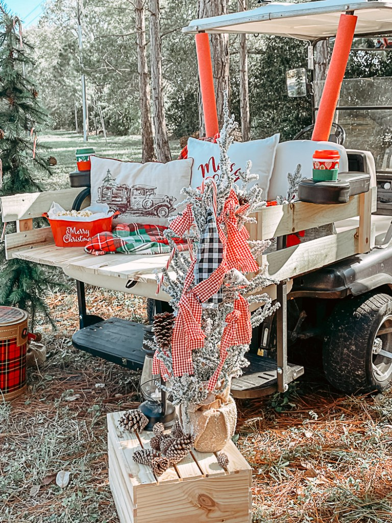 Holiday Golf Cart Decorations